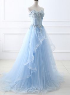 The evening dress of the bright blue sky