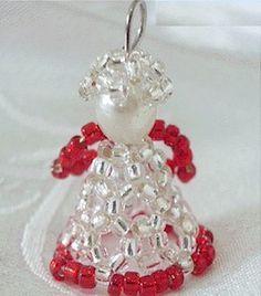 Homemade Beaded Angel Christmas Ornaments
