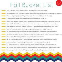 Fall bucket list.