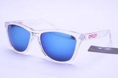 6031721a6f Oakley Frogskins Sunglasses White Frame Colorful Lens 0397 Wholesale  Sunglasses