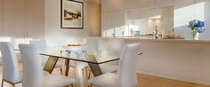 Caroline Serviced Apartments Brighton - Three bedroom platinum apartment kitchen and dining area