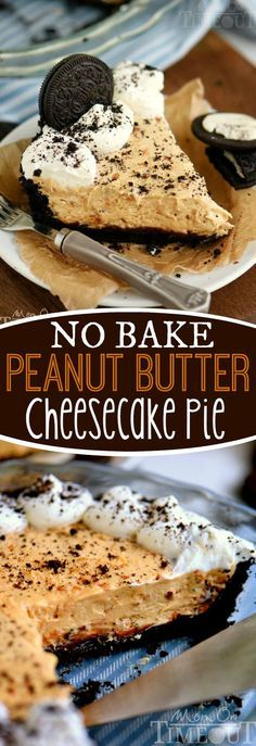 I've got an incredible No Bake Peanut Butter Cheesecake Pie recipe for you that just won't quit! See if you can eat just one slice! Creamy, crunchy, delightfully rich and no bake too! - all on an OREO crust!