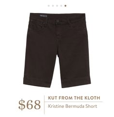 Stitch Fix April 2016- Kut from the Kloth Kristine Bermuda Short $68. Colored long shorts.
