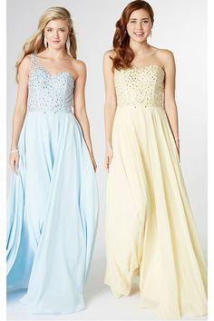 Charming Long A-line Sleeveless Chiffon Prom Dresses