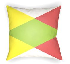 20 Moderne Pillow in Yellow, Lime & Red