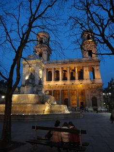 In Front of Saint Sulpice Church, Paris  in Saint Germain. It is my favorite church in Paris.