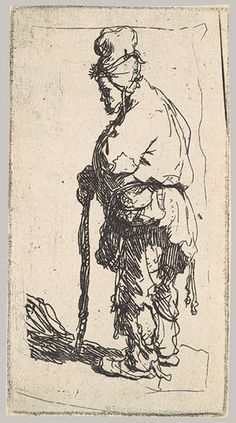 Rembrandt (Rembrandt van Rijn): Beggar Leaning on a Stick, Facing Left (26.72.156) | Heilbrunn Timeline of Art History | The Metropolitan Mu...
