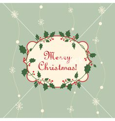 Merry christmas card vector - by inkant on VectorStock®