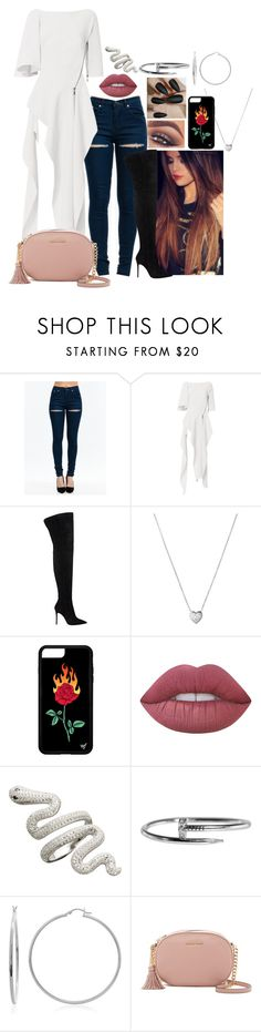 """Idk.."" by missvalerieg ❤ liked on Polyvore featuring Mary Kay, Maticevski, Gianvito Rossi, Links of London, Lime Crime, Cartier, Sterling Essentials and MICHAEL Michael Kors"