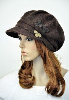cute women's hats   M30 Cute Mini Flowers Winter 100 Wool Women's Hat Beanie Ski Newsboy ...