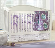 teal and purple baby bedding | Pottery Barn Kids Brooklyn Nursery Bedding