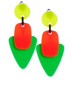 ASOS Neon Trio Drop Earrings