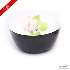 Hi Luxe Double Clr Serving Bowl  Black