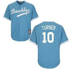 d06ef84e8a4 Dodgers 10 Justin Turner Light Blue Cooperstown Throwback Jersey Dodgers  Jerseys