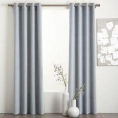 Light blue/grey velvet curtain by allisonn