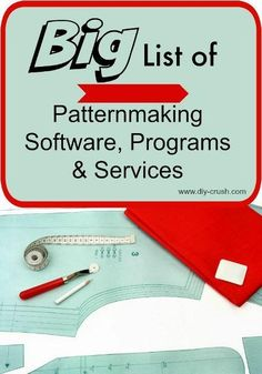 Big List of Patternmaking Software and programs. Find several professional patternmaking programs and software plus individual businesses that offer pattern drafting services. Sewing Tools, Sewing Hacks, Sewing Tutorials, Sewing Crafts, Pattern Drafting Tutorials, Dress Tutorials, Sewing Ideas, Sewing Patterns Free, Free Sewing