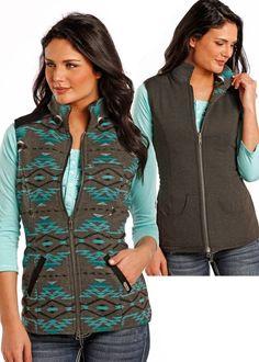 Powder River Reversible Jacquard Vest