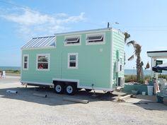 Sea foam tiny house!! I really want this house! <3 Sam