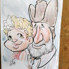 #livecaricature caricature a #gradutaion  #party #caricature #caricatures #prismacolor