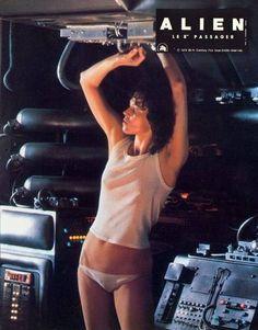 Sigourney Weaver On set of Alien, 1979 Science Fiction, Fiction Movies, Sci Fi Movies, Alien 1979, Alien Film, Tv Movie, Space Ghost, Aliens Movie, Space Girl