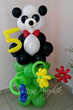 Panda Decorations, Balloon Centerpieces, Balloon Decorations Party, Baby Shower Balloons, Birthday Balloons, Deco Ballon, Balloon Crafts, Personalized Balloons, Balloon Arrangements