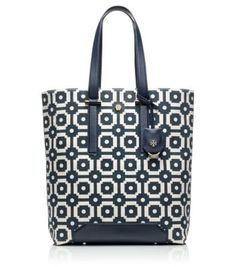 Tory Burch ELLEN TALL PRINTED CANVAS TOTE