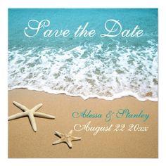 Beach wedding invite idea
