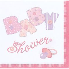 Shop Pink Stitching Baby Shower Luncheon Napkins - - up to off, discover more Baby Shower Party Tableware enjoy big discount and fast shipping. Baby Shower Napkins, Baby Shower Table, Shower Party, Baby Shower Parties, Baby Boy Shower, Beverage Napkins, Cocktail Napkins, Baby Shower Cocktails, Unisex Baby Shower