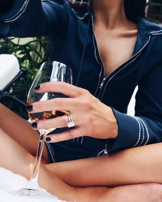 by the pool-fie .w/ ma pink wine and silky playsuit {deets: by lornaluxe Wine Photography, Photography Women, I Drink Coffee, Luxe Life, Wine Time, Wine Drinks, British Style, Playsuit, Latest Trends