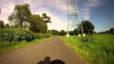Sieg River Bike Path from estuary to Hennef - virtual cycling - indoor c...