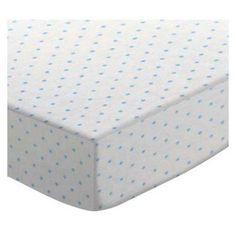 SheetWorld Fitted 100% Cotton Jersey Knit Square Playard Sheet (For Graco), Blue Pindot