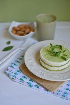 Cheesecake, biscuit à la roquette et gelée de basilic - Safran Gourmand