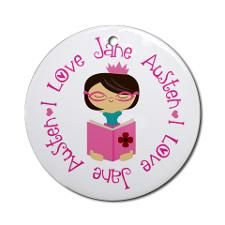 I Love Jane Austen Ornament (Round)