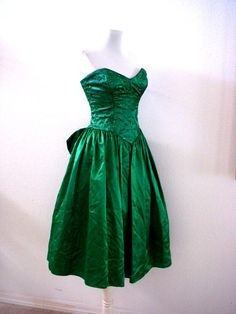 Vintage Emerald Green Party Dress by Gunne Sax  by OmAgainVintage, $45.00