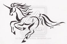 Running Unicorn Tattoo by DawnLeopardess.deviantart.com on @deviantART