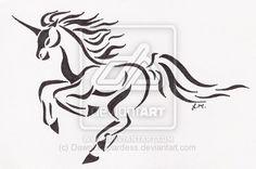 Running Unicorn Tattoo by DawnLeopardess.deviantart.com on @deviantART