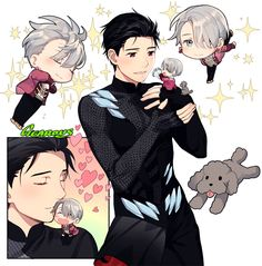 Yuuri and Victor - Yuri!!! on Ice by GEAROUS/ギアon pixiv