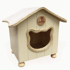 CatCottage Catbed Cathouse by MyFourCatsDesigns on Etsy https://www.etsy.com/uk/listing/482826305/catcottage-catbed-cathouse