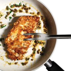 One of my ultimate FAV recipes! Crispy Chicken Parmesan : Just say no to the bucket! This easy recipe is as satisfying as it is healthy