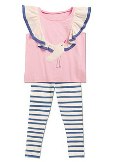 From CWDkids: Flutter Sleeve Bird Tee & Stripe Capris