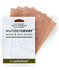 Cover-up a tattoo or pamper a healing blister with these soft skin shields. Designed to offer comfortable protection with a breathable fabric, this set is perfect for ladies who live in heels!