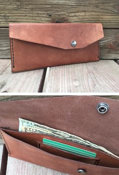 Oversized leather wallet. Handmade. IG: @n.w_leatherwork Leather Working, Card Case, Continental Wallet, Leather Wallet, Handmade, Tops, Fashion, Coin Wallet, Moda