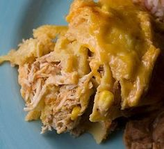 Slow Cooker Chicken Taco Casserole | AllFreeCasseroleRecipes.com