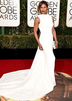 Golden Globes 2016 - Best Dresses - Laverne Cox in Elizabeth Kennedy.