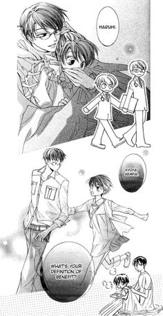 I made this collage to show some of the best Haruhi x Kyoya moments in the manga. Kyoya x Haruhi -- Merits Ouran Host Club Manga, Ouran Highschool Host Club, Host Club Anime, High School Host Club, Me Anime, Anime Life, Anime Manga, Anime Guys, School Clubs