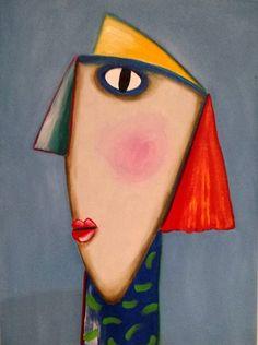 Pintura em tela - Gustavo Rosa - Releitura - Ro Agria Ateliê