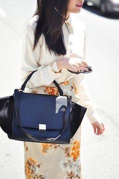 what-do-i-wear:    Blouse - Stella McCartney (similarhereon sale)  Skirt - Dolce & Gabbana (similarhere)  Jewelry - CC Skye and Isharya thanks to Yishike  Purse - Celine (iamge: 9to5chic)