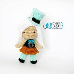 Mad Hatter Inspired Crochet Amigurumi Plush Doll - by CyanRoseCreations, $42.00