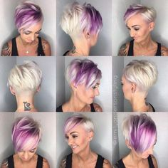 Edgy Pixie Hairstyles, Edgy Short Haircuts, Undercut Hairstyles, Short Hair Cuts, Cool Hairstyles, Short Hair Styles, Summer Hairstyles, Hairstyle Ideas, Hair Ideas