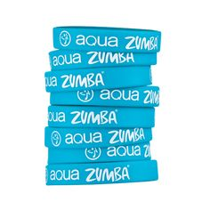 ZUMBA RUBBER BRACELETS – AQUA ZUMBA Wear all ZUMBA RUBBER BRACELETS – AQUA ZUMBA, or mix and match if you are specialized in several things, either way, the colors will make you stand out for sure!